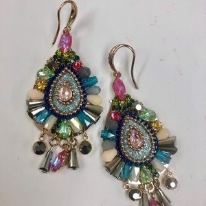 zd exclusives Jewelry - Artisan Crafted Color Pop Crystal Earrings, NWT
